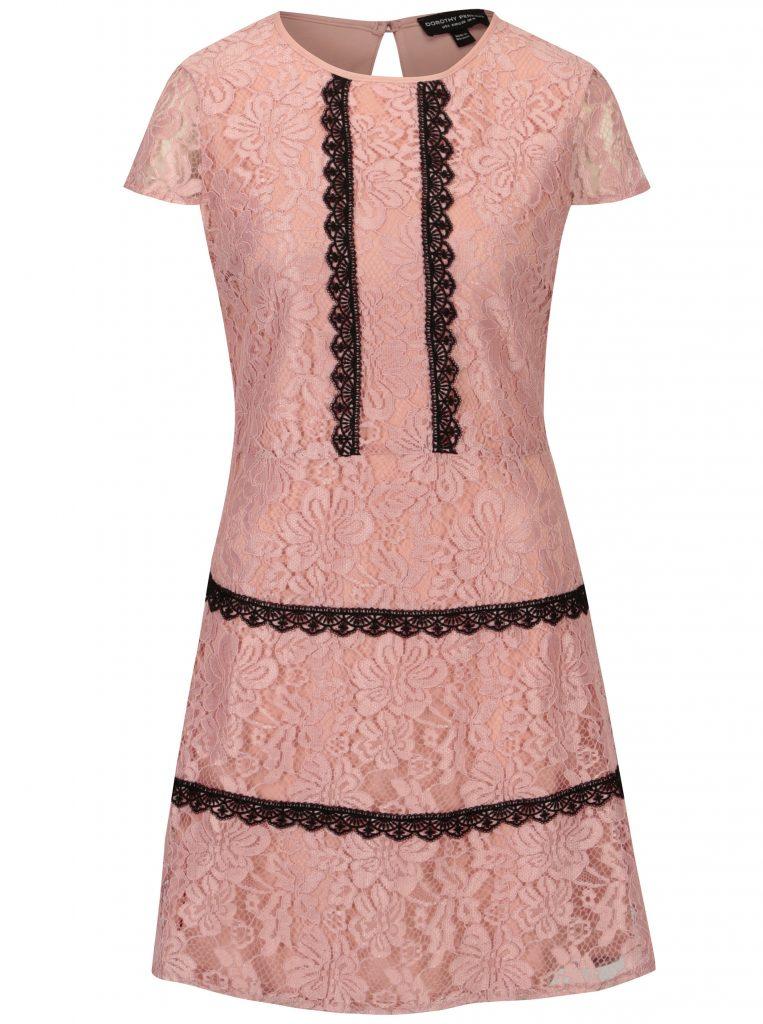 rochie roz din dantela