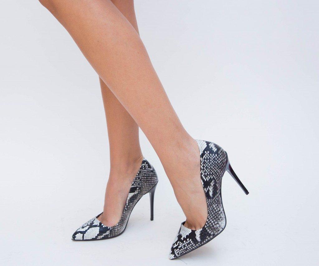 pantofi clasici imitatie piele crocodil