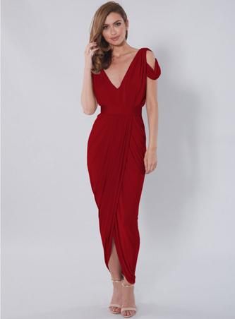 rochie rosie de craciun
