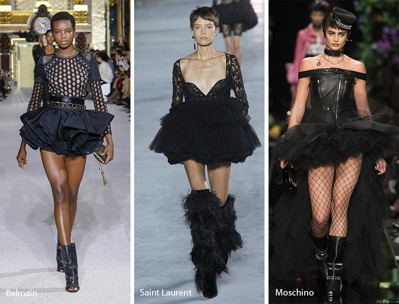 rochii negre cu volanase