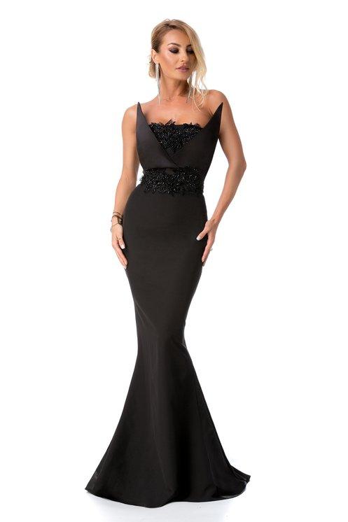 rochie neagra tip sirena