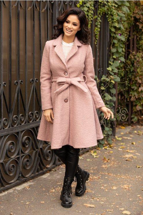 palton Teddy Bear roz