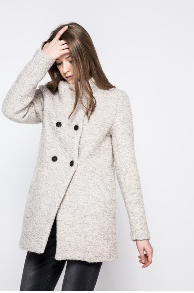 palton scurt teddy cu nasturi