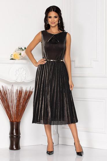 rochie-negru-metalizat