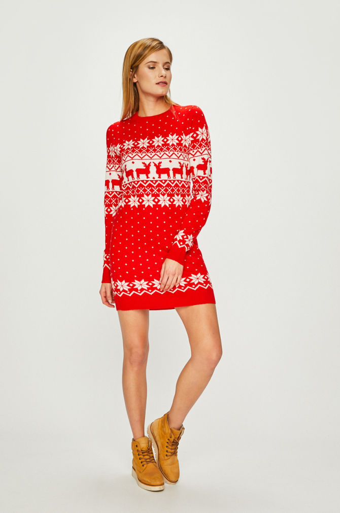 rochie tricotata de Craciun