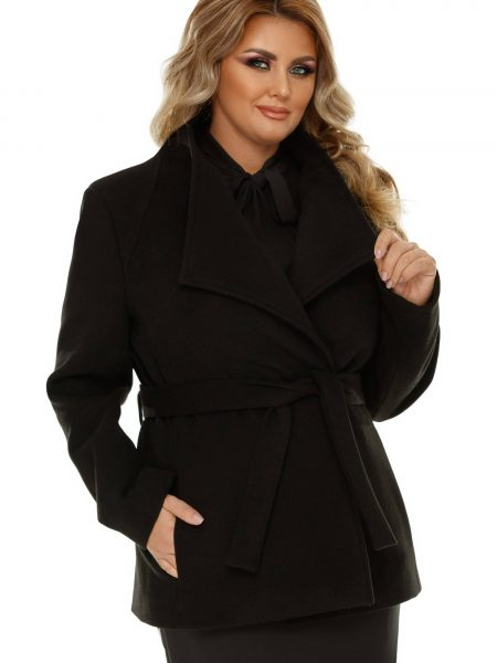 Jacheta Plus Size Eliana Neagra