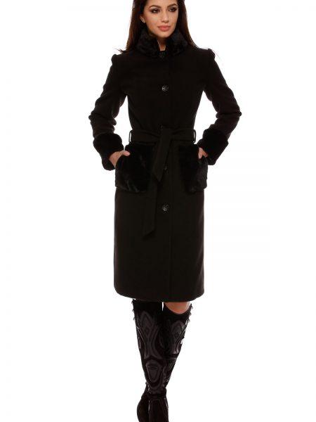 Palton Charlotte Negru