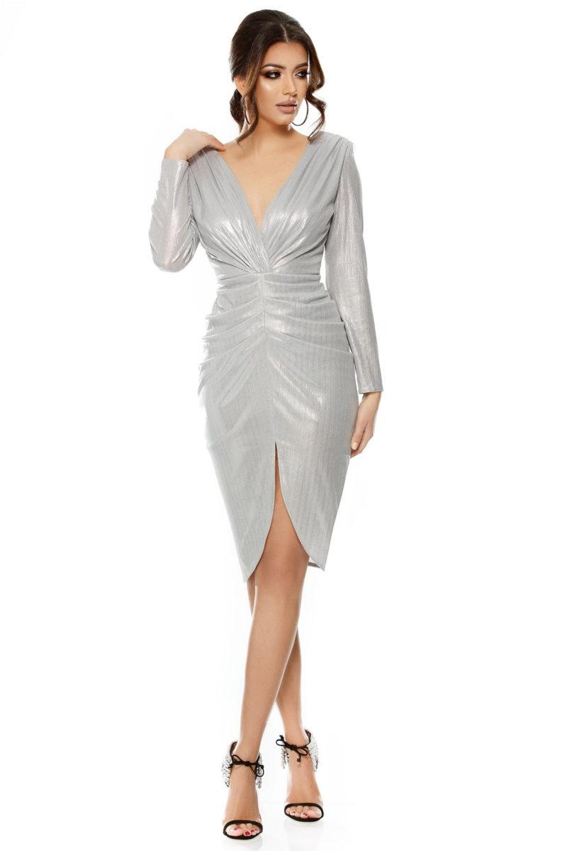 Rochie Elegance Argintie -