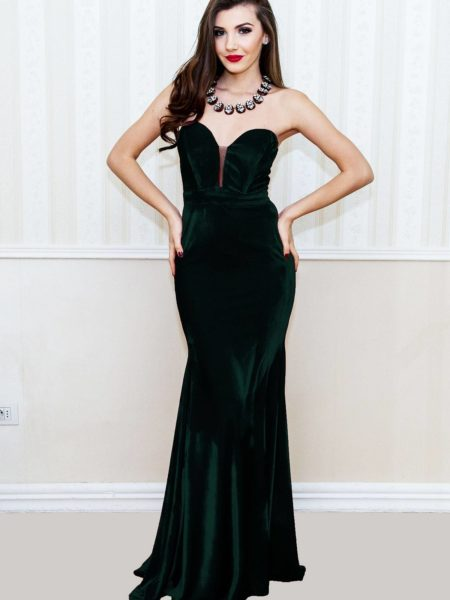 Rochie Lunga Medeea Verde Smarald