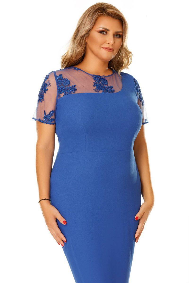 Rochie Plus Size Agata Albastra