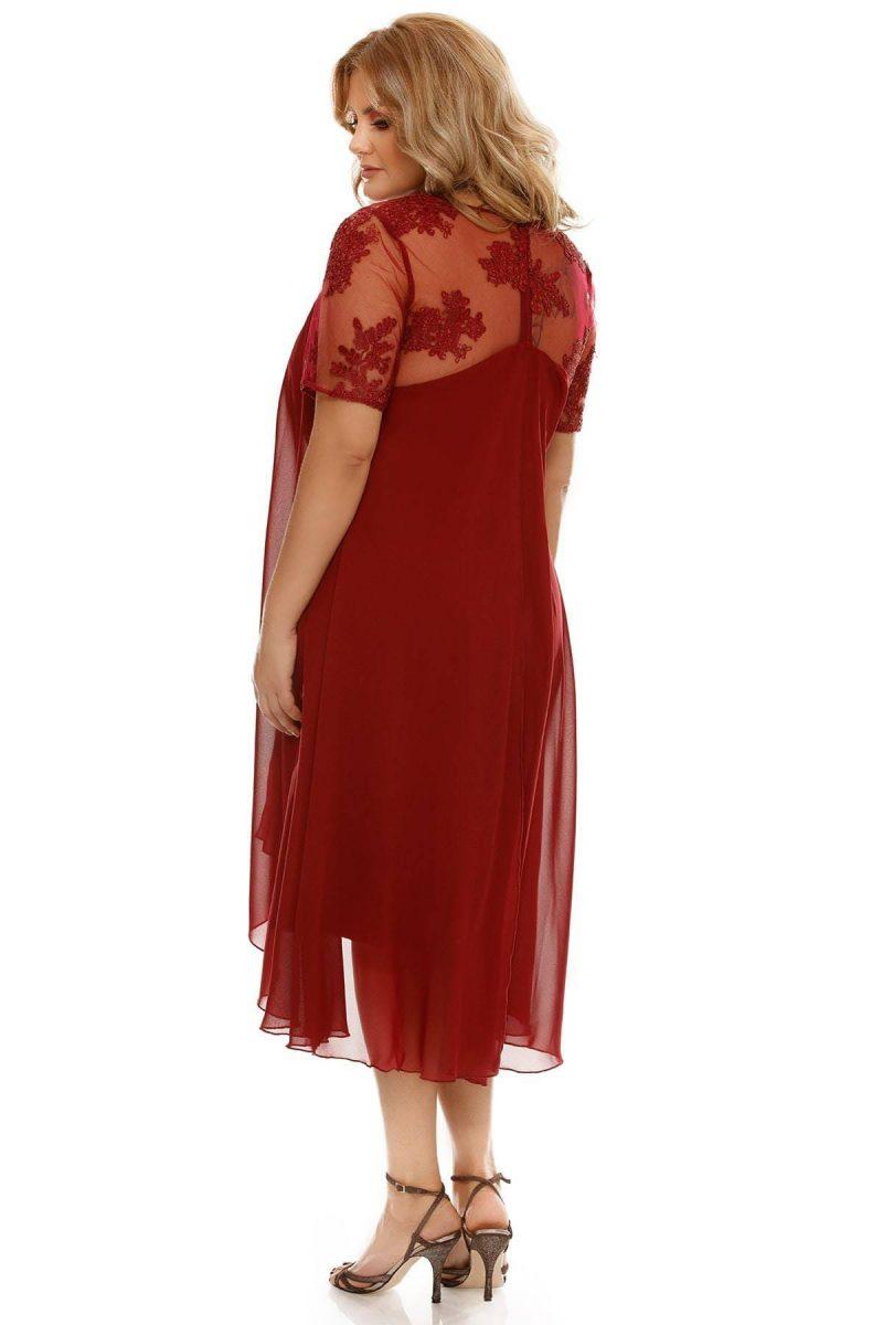 Rochie Plus Size Crina Bordo -