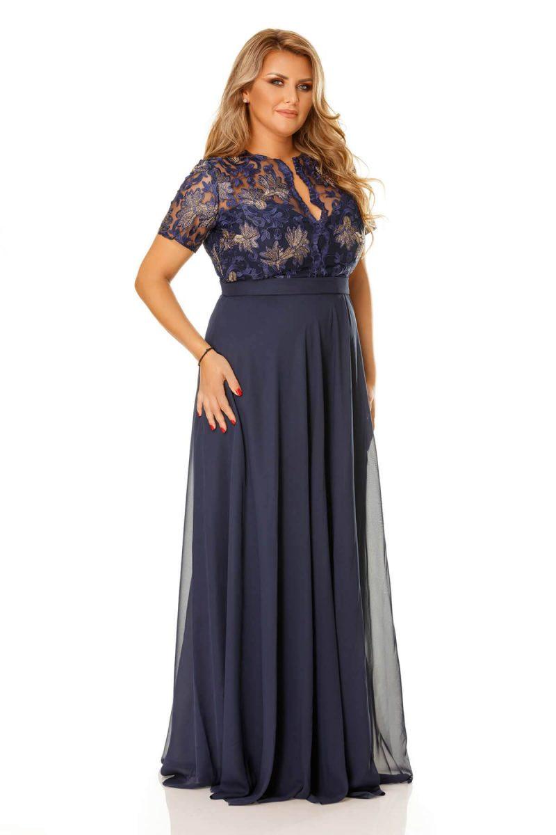 Rochie Plus Size Estela Bleumarin -