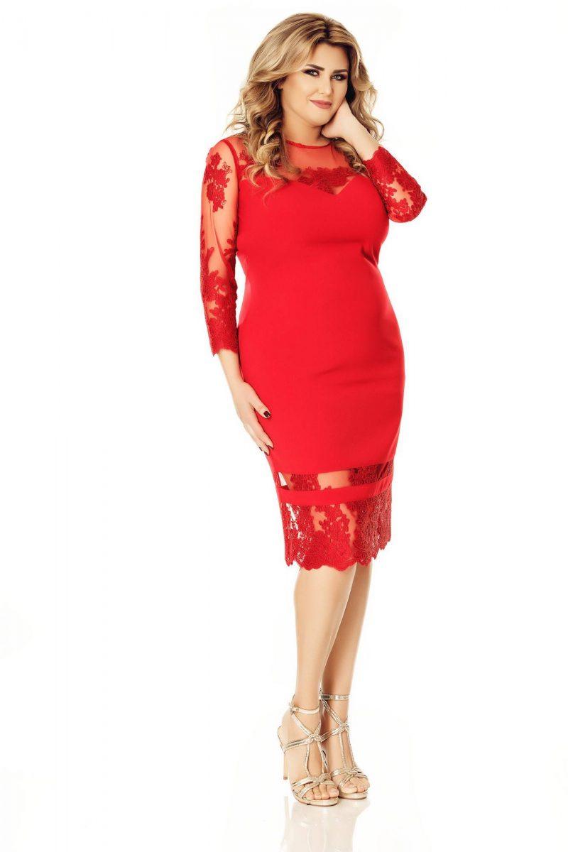 Rochie Plus Size Gratiela Rose -
