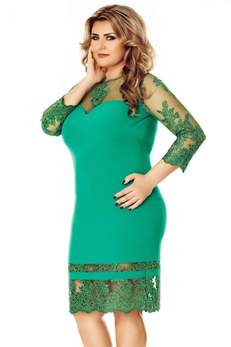 Rochie Plus Size Gratiela Verde -