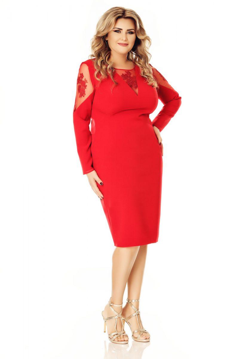 Rochie Plus Size Iman Rose -