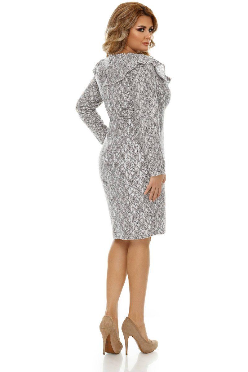 Rochie Plus Size Ivete Gri -