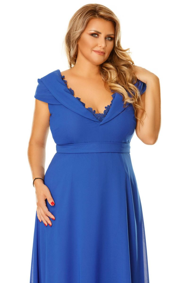 Rochie Plus Size Lena Albastra -