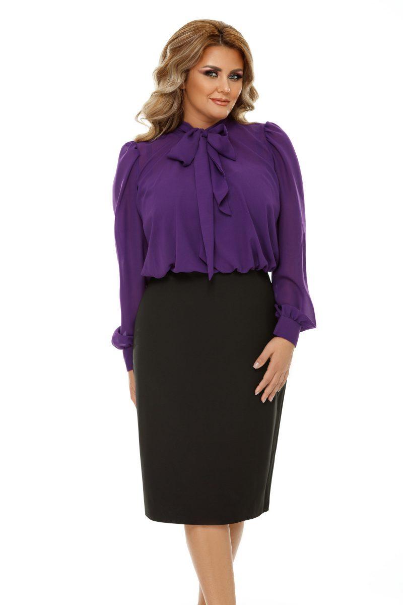 Rochie Plus Size Livia Mov -