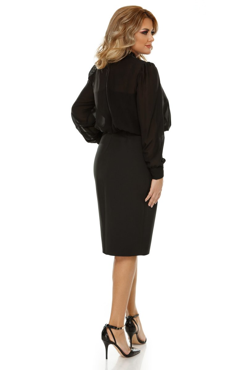 Rochie Plus Size Livia Neagra -