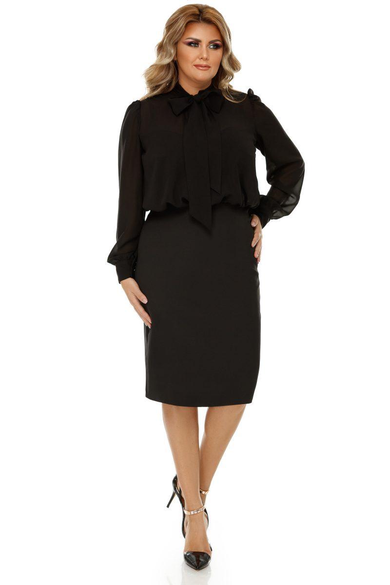Rochie Plus Size Livia Neagra