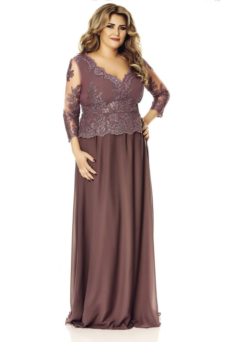 Rochie Plus Size Rose Pruna -