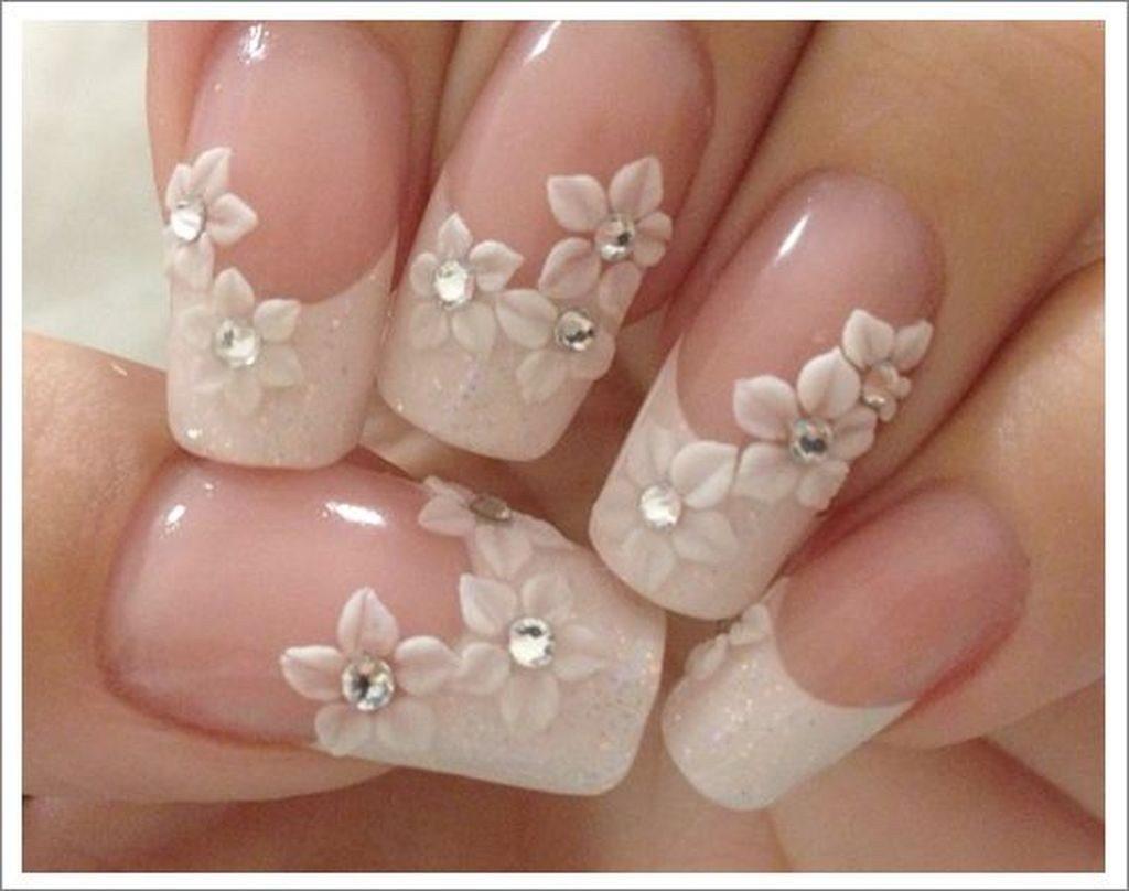 manichiura french cu flori