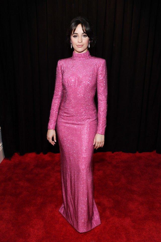 rochie lunga sclipitoare roz