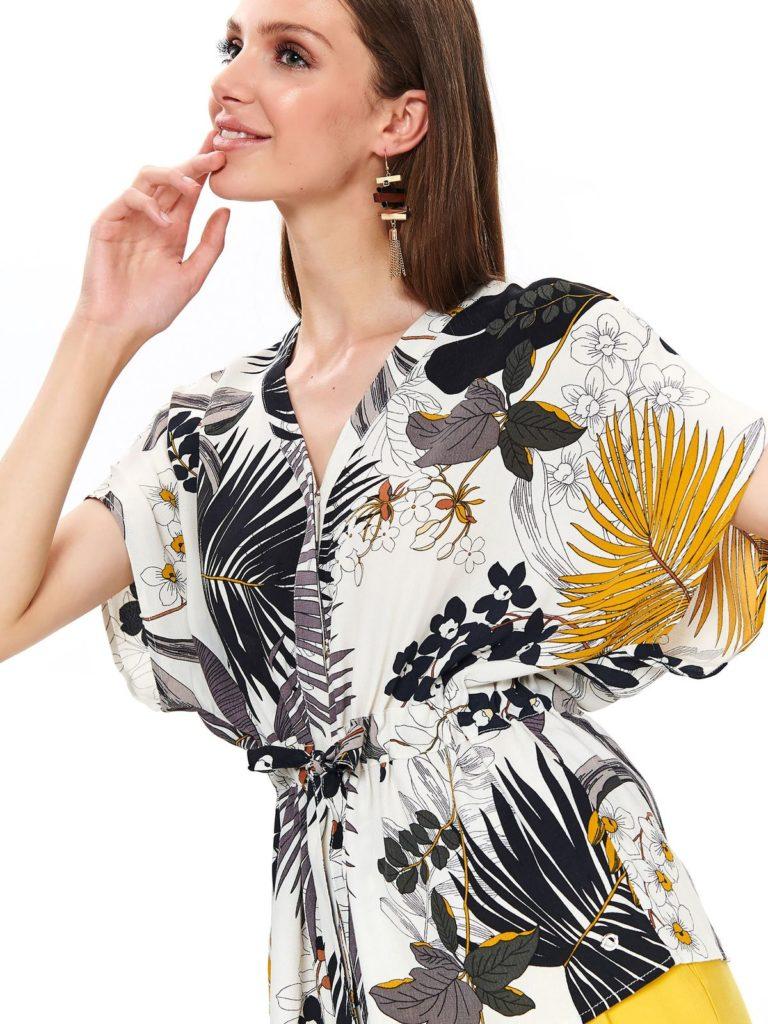 camasa cu flori femeie insarcinata