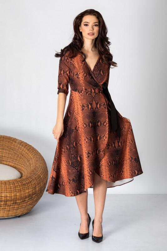 rochie animal print femei insarcinate