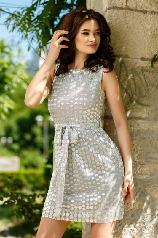 rochie argintie gravide