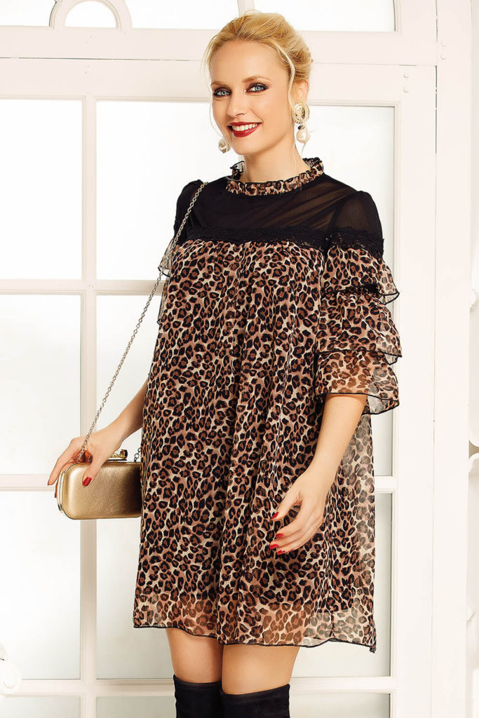 rochie larga de gravide cu printuri