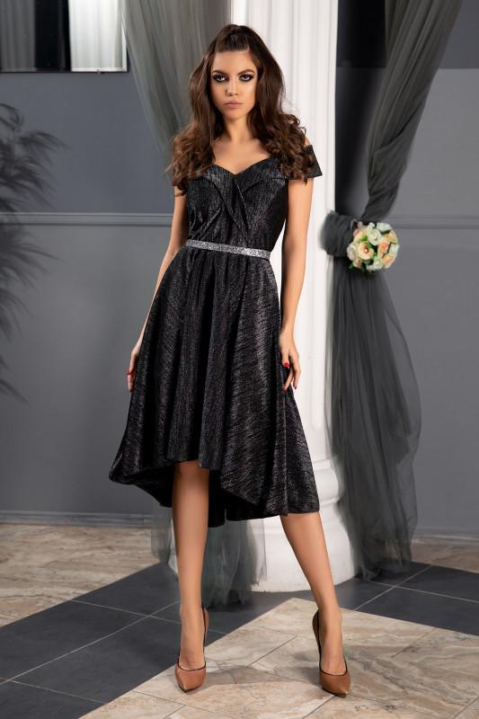 rochie lucioasa neagra marime xxl