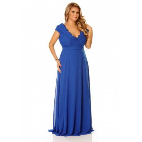 rochie lunga albastra femei plinute