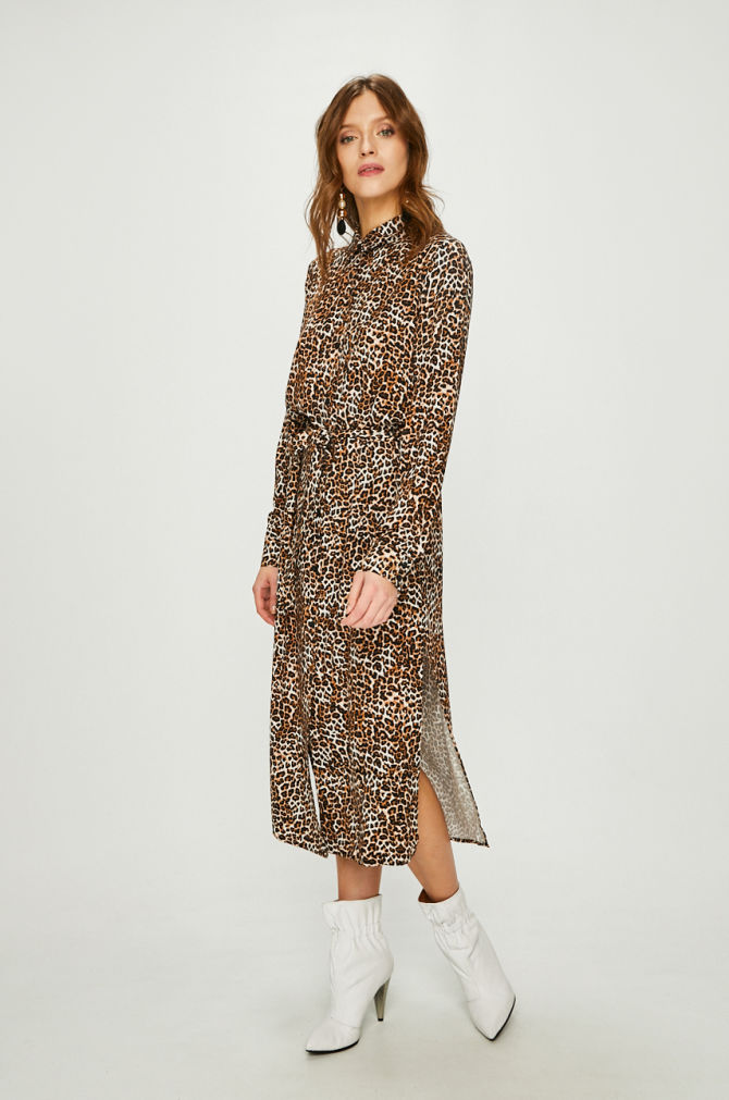 rochie lunga gravide cu printuri animal