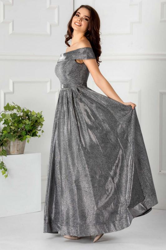 Rochie lunga xxl pe argintiu