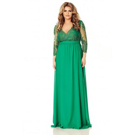 rochie maternala lunga verde