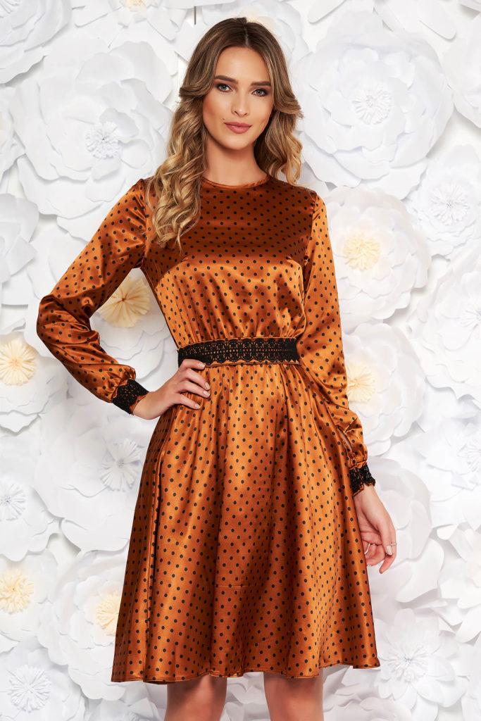 rochie satinata cu cordon ajustabil