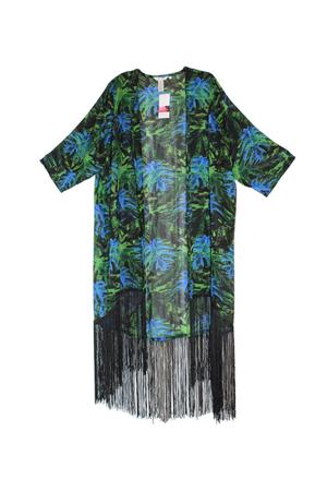 kimono lung cu franjuri