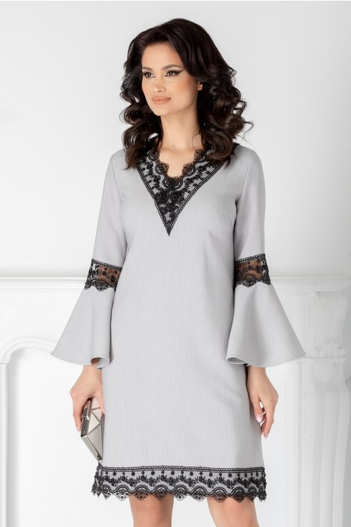 rochie office cu dantela pe margini