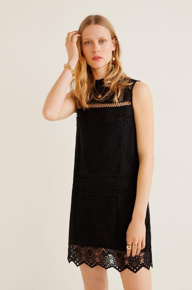 rochie scurta cu dantela neagra