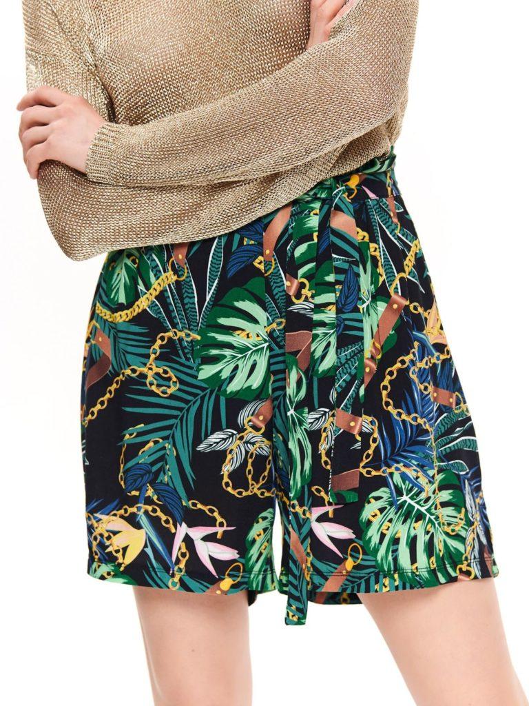 pantaloni scurti cu print floral colorat