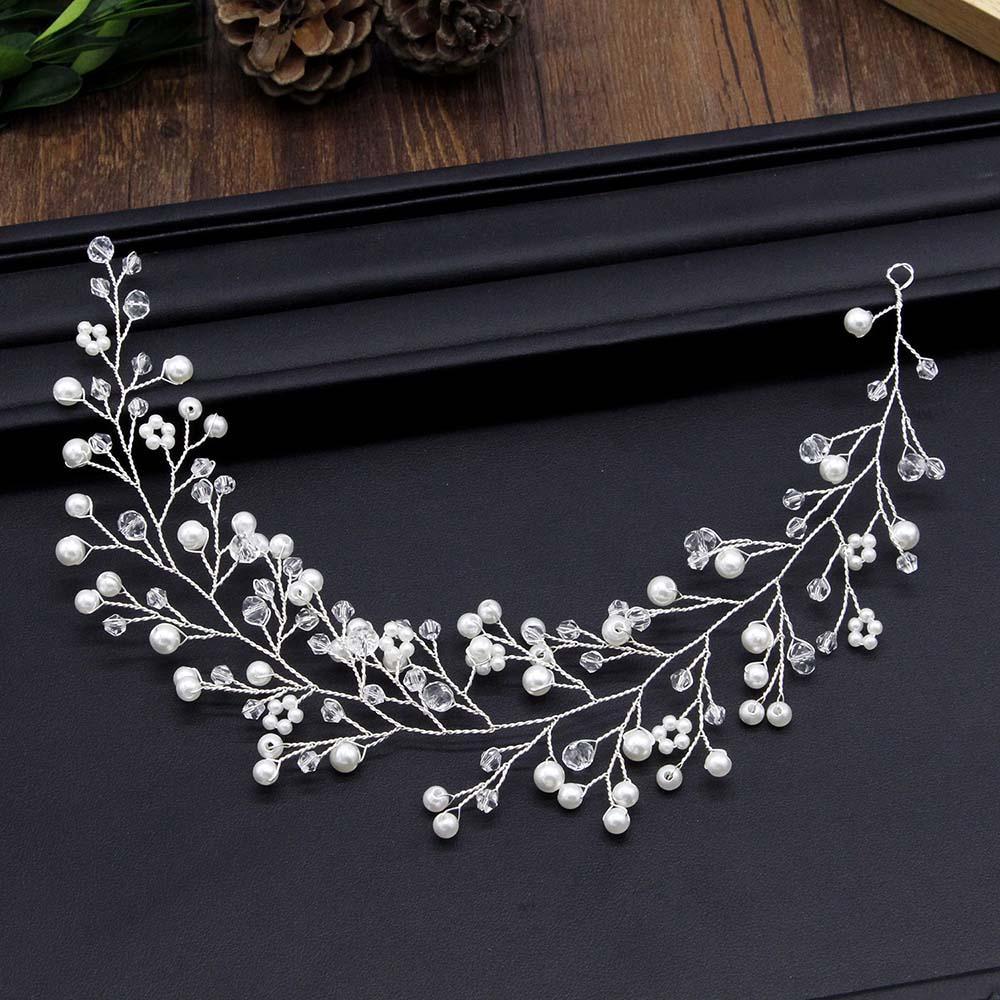 accesoriu de par cu perle si cristale