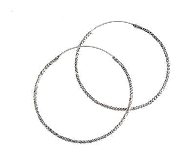 Cercei argint model impletit