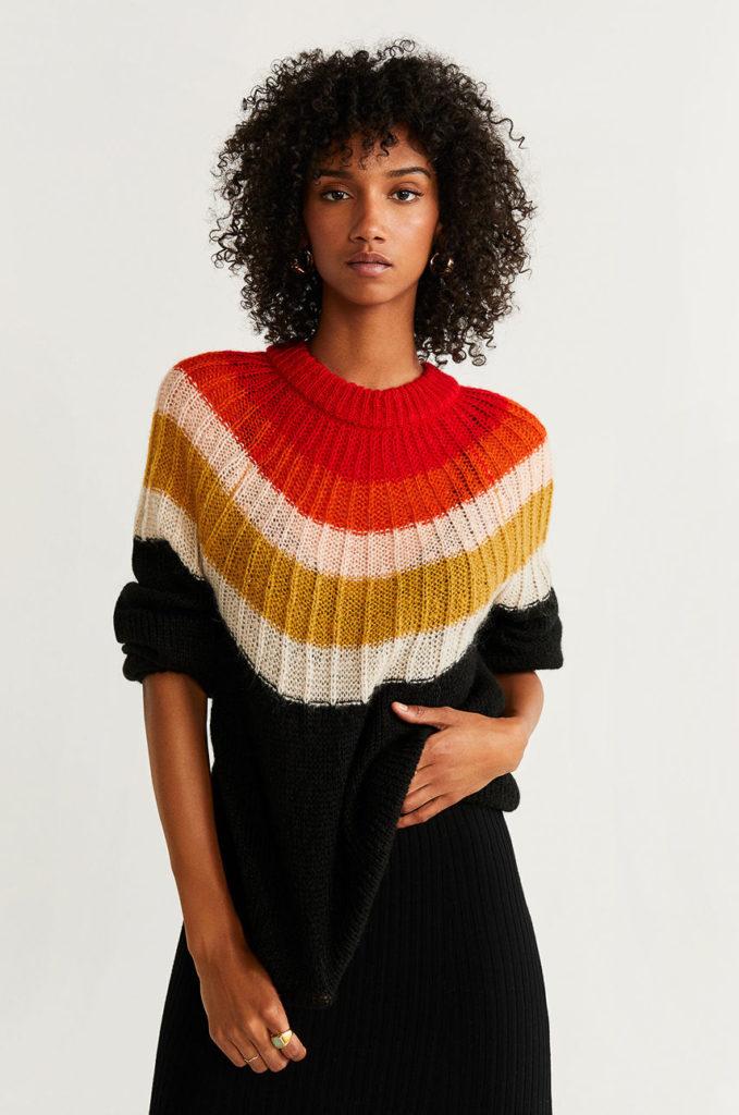 pulover multicolor de la Mango