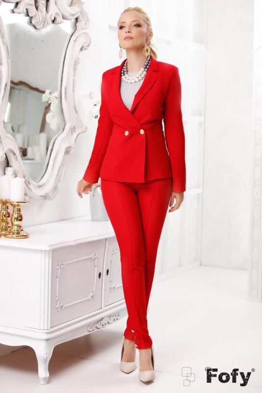 pantaloni tip egari rosii