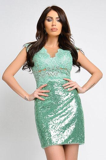 rochie-eleganta-verde-cu-paiete