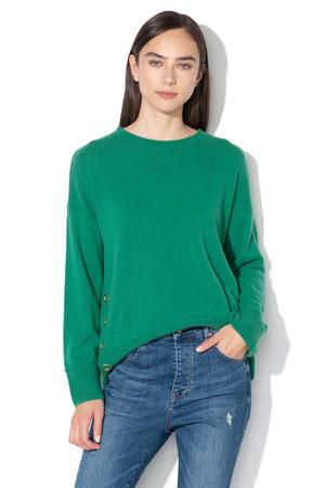 pulover verde din casmir