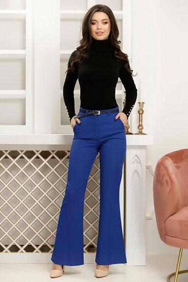pantaloni-evazati-albastri
