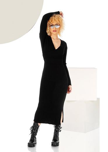 rochie-lunga-neagra-din-tricot