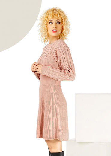 rochie pulover tricotata clos